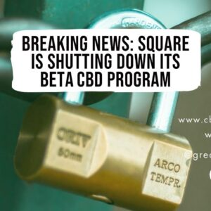 Breaking News: Square is shutting down its Beta CBD Program.