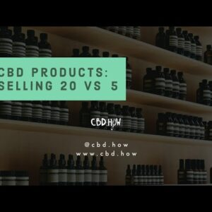 CBD Products: 20 items vs 5 items