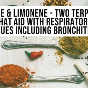 Pinene & Limonene - Two terpenes that aid with respiratory issues including bronchitis!