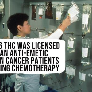 In 1986 THC was licensed as an anti-emetic drug in cancer patients receiving chemotherapy.