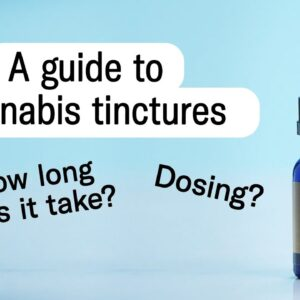 How to use cannabis tinctures