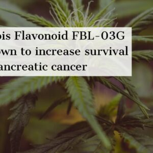 Cannabis Flavonoid FBL-03G has shown to increase survival from pancreatic cancer